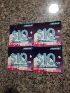 Watson Voucher x 2pieces of $10 each