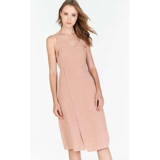 THECLOSETLOVER AMUNRA MIDI ROMPER IN PINK