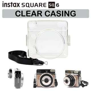 🚚 Fujifilm Instax SQ6 SQ 6 Square Instant Camera Crystal Clear Casing | Hard Shell Protection |