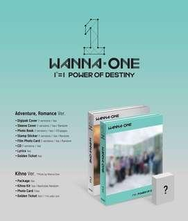 【Preorder】Wanna One Power of Destiny Album