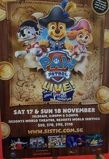 Paw patrol live concert Cat 1 30% off