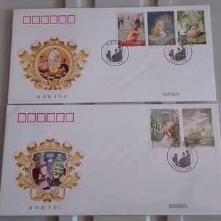 CHINA 2005-12 ANDERSEN'S FAIRY TALES 安德生童话 FDC SET