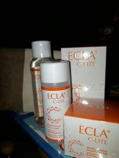 ECLA C-LITE Package (Serum, Night Cream, Toner, and Facial Wash) +FREE POUCH