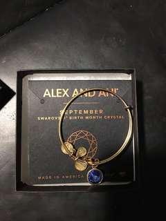 Alex and Ani September birthstone bracelet