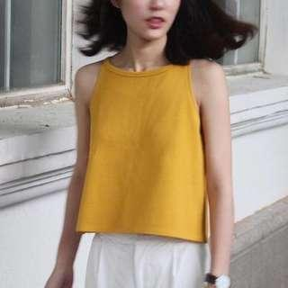 🚚 (New) Yellow Halter Top
