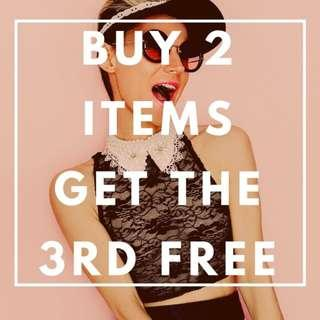 Buy two get 3rd FREE