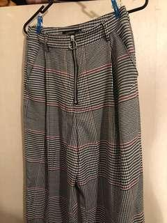 GLASSONS Super High Waist Check Pants RRP$59.99 NEVER WORN