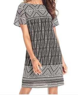 REDUCED-✔NEW✔Ladies size small boho print shift dress