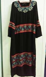 Black jubah / long dress