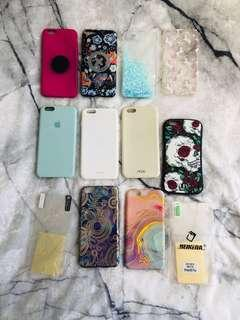 10 x iPhone 6/6s cases + Screen protectors