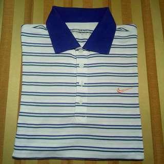 Poloshirth Nike Stripes white blue