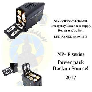 Brand New BB-6 Falcon NP-F550 F750 F760 F960 F970 Backup Emergency Sony Battery Power Source AA batteries pack
