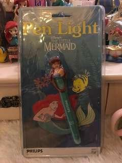 Disney pen light 小魚仙 美人魚 電筆筒 電光筆 電筒