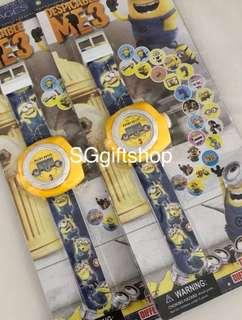 Minions theme projector watch for Christmas party goodies gift, goody bags favors for children