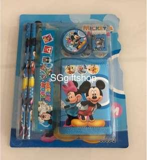 Mickey Mouse wallet stationary packages- preschool party goodies bag, birthday party goodie bag gift