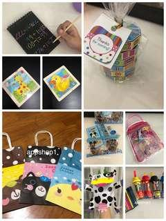 Assorted goodies bag gift for children party, Christmas celebration, baby shower door gifts