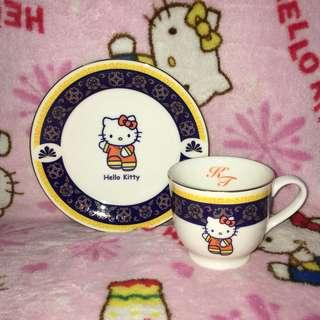 Hello Kitty in China Ceramic Teacup With Saucer Plate