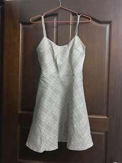 韓國購入 格紋細肩吊帶洋裝