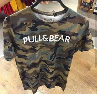 Kaos Pull&Bear Army Original