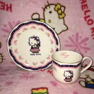 Hello Kitty in Switzerland Ceramic Teacup With Saucer Plate