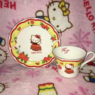 Hello Kitty In Spain Ceramic Teacup With Saucer