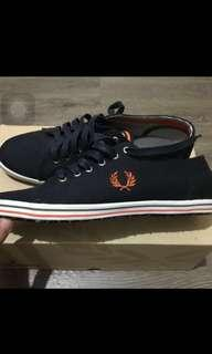 Brand New Fred Perry Kingston Twill Tipped In Navy Shoe