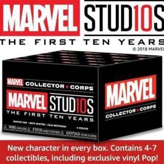 🚚 Funko Pop Marvel Studios First Ten Years Subscription Box Exclusive MCC Collector Corps Vinyl Figure Collectible Toy Gift Movie