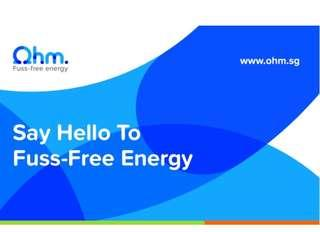 🚚 ohm energy