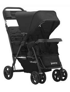 Brand New JOOVY Caboose Too Ultralight Graphite Stand-On Tandem Stroller, Black
