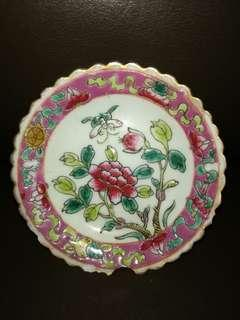 Antique Straits Chinese saucer plate