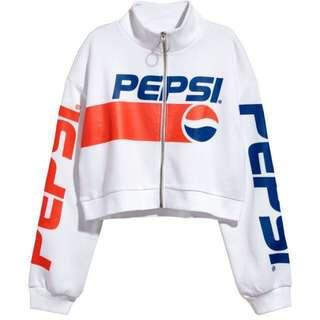 H&M Pepsi Crop Top with a Zip