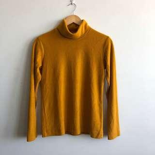 Uniqlo Mustard yellow turtleneck