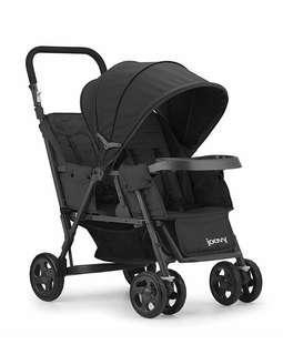 Brand New JOOVY Caboose Too Graphite Stand-On Tandem Stroller, Black