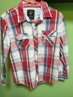 BEVERYLY HILLS POLO CLUB red plaid longsleeves