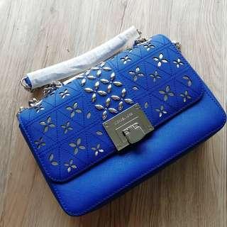 Michael Kors Tine Leather Shoulder Bag AS IS
