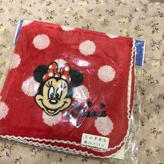 🚚 日本迪士尼 Disney Minnie 米妮方巾 手帕