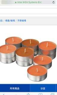 🚚 Ikea幸運蜜桃味小蠟燭30入