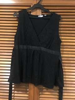 Black lace blouse L - XL