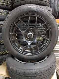 15 Inch 5x100 Used Rims & Tyres