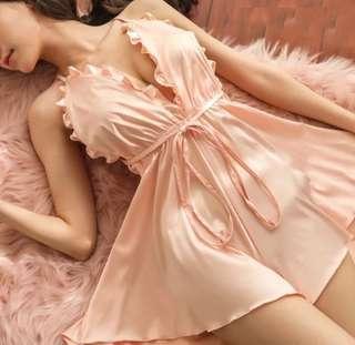 🚚 Plunging Neckline Sexy Backless Split Prom Night Dress-Pink