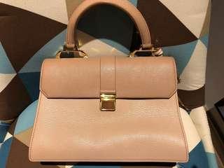Miu Miu Madras Leather Crossbody Bicolor Bag