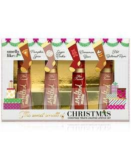 CLEARANCE Too Faced Sweet Smell of Christmas Gingerbread Liquid Lipstick