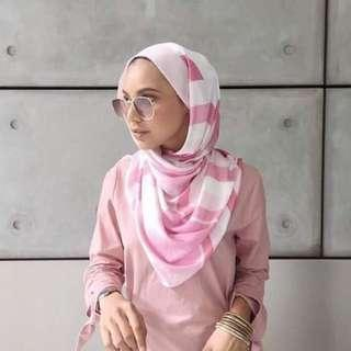 dUCkscarves Limited Edition Kuih Lapis in Pink