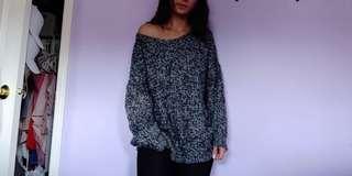 Heather Grey Soft Knit Sweater