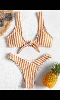 ZAFUL striped bikini set