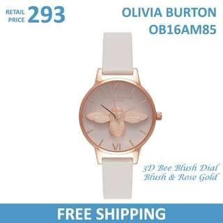Olivia Burton Ladies Watch 3D Bee Blush Dial Blush & Rose Gold OB16AM85