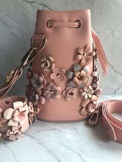 Marina hoermanseder pink bucket bag