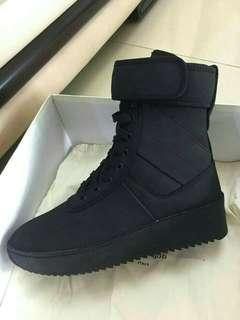 Fear of god FOG leather military boots BLACK PK VERSION/GOD VERSION