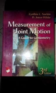 ◽ Measurement of Joint Motion (Goniometry) by Norkin and White, 3rd edition