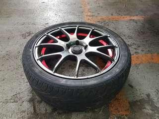 """WebsSport SA-67R 17"""" inch Sports Rims (with Tyres)"""